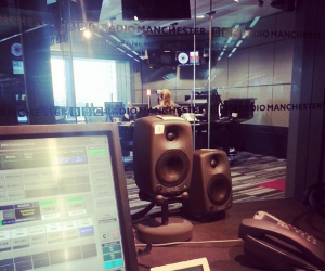 A view of Becky's studio from the producers desk. Katherine Jenkins was being interviewed at the time.